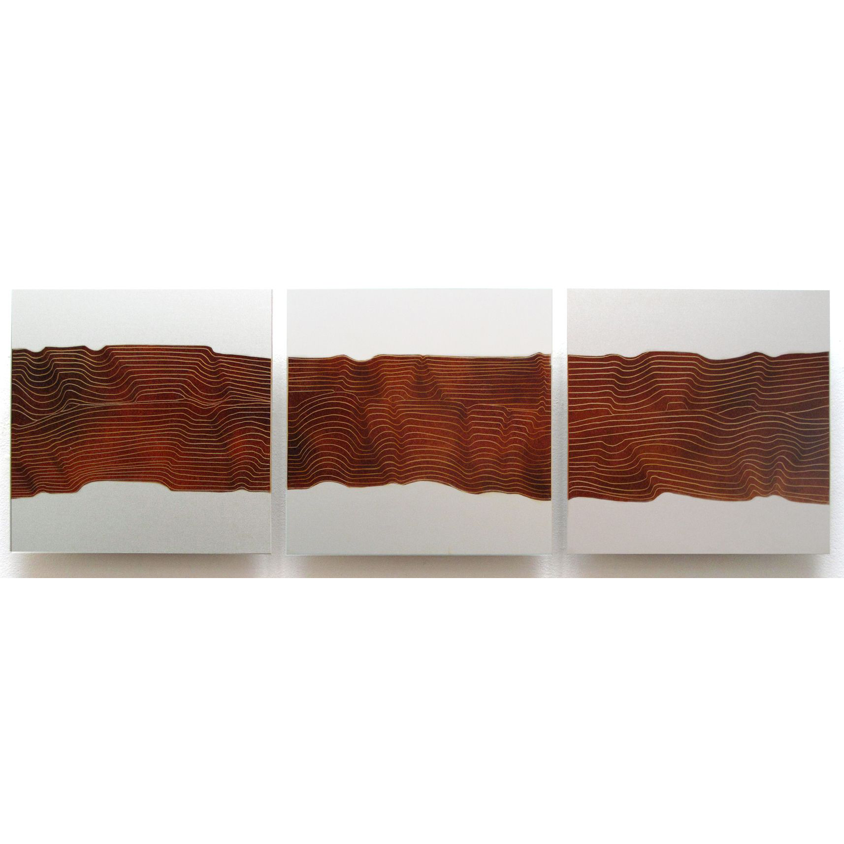 "Ribbon Canyon, 2012, Oil on aluminum panel, 12 x 36""Private Collection"